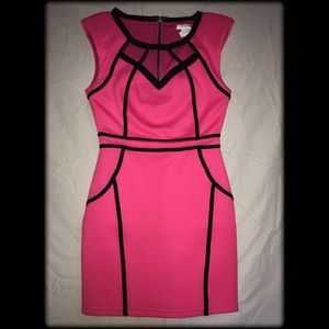 Pink and black A'gaci dress